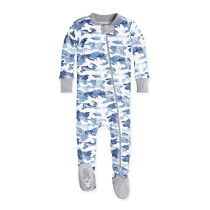 d802655fbbab Burt s Bees Baby® Distressed Camo Footed Pajama in Blue
