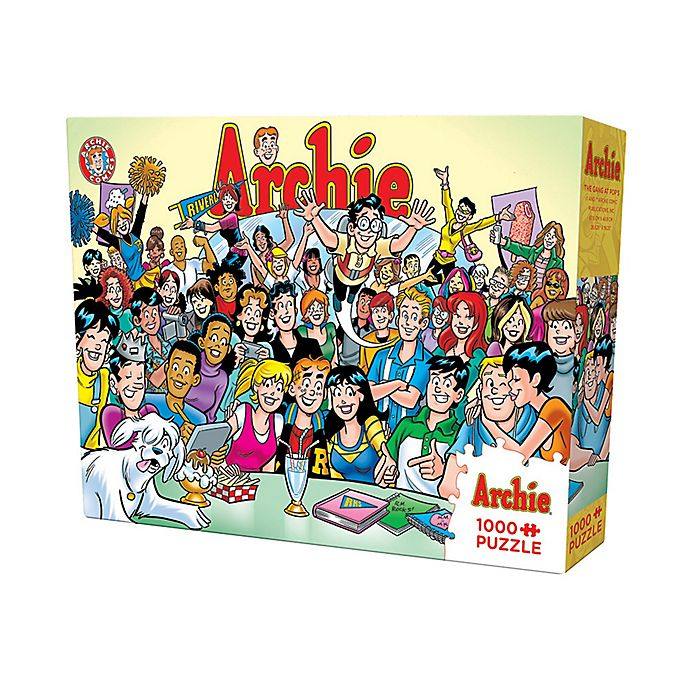 Alternate image 1 for Cobble Hill Puzzle Company Archie Comics - The Gang at Pop's 1000-Piece Jigsaw Puzzle