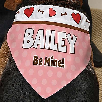 Be My Valentine Dog Bandana