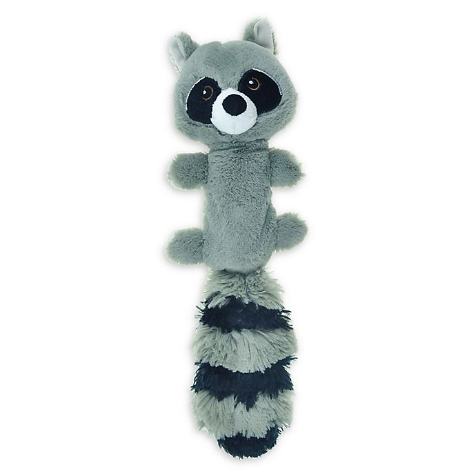 Alternate image 1 for Bounce & Pounce Plush Raccoon Dog Toy in Grey/Black