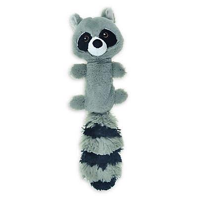 Bounce & Pounce Plush Raccoon Dog Toy in Grey/Black