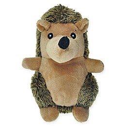 Bounce & Pounce Plush Hedgehog Dog Toy in Brown