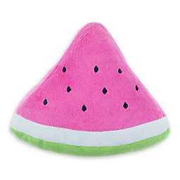 Bounce & Pounce Plush Watermelon Dog Toy in Red