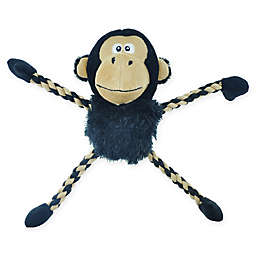 Bounce & Pounce Plush Monkey Dog Toy in Black/Brown