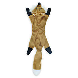 Bounce & Pounce Flattie Fox Dog Toy in Orange