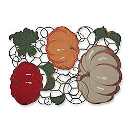 Pillow Perfect Pumpkin Stack Harvest Placemats (Set of 2)