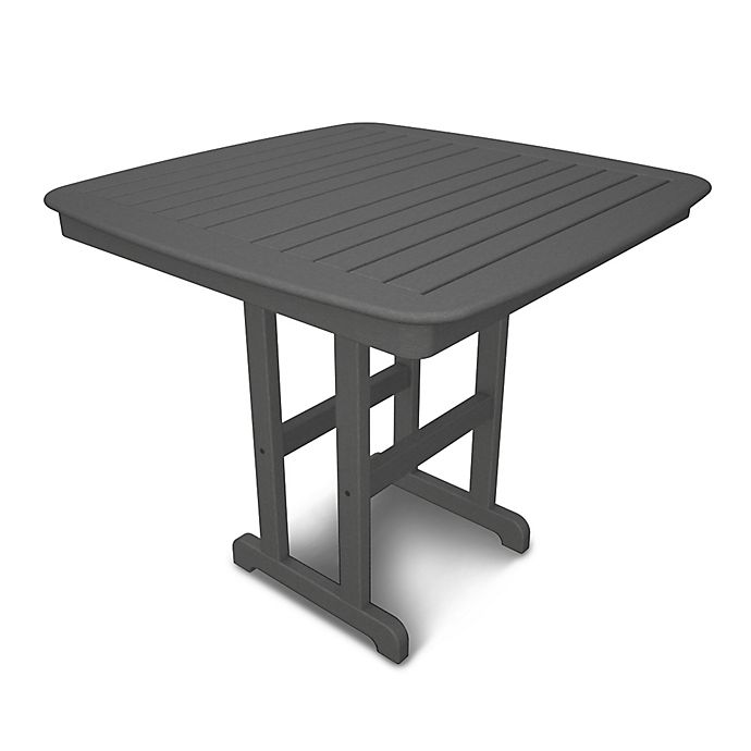 Alternate image 1 for POLYWOOD® Nautical 44-Inch Counter Table in Slate Grey