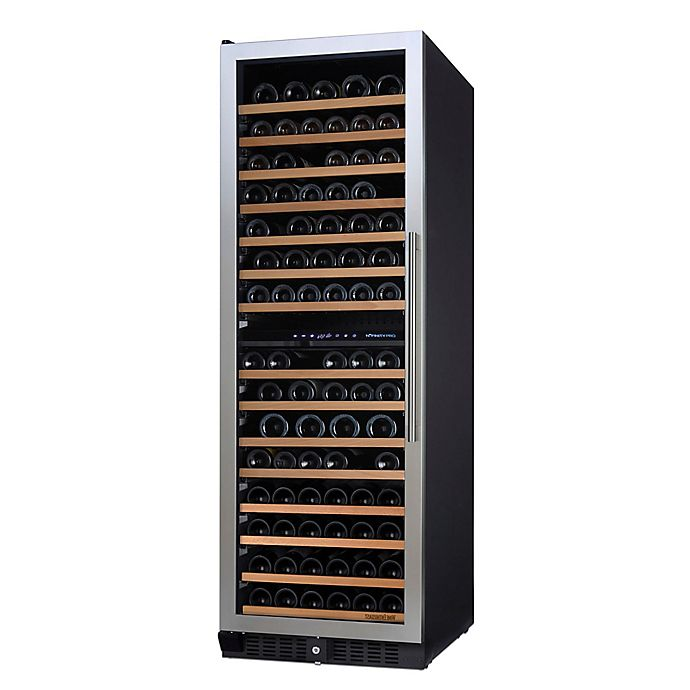 Alternate image 1 for Wine Enthusiast N'Finity Pro Dual-Zone L Stainless Steel Wine Cooler with Glass Door
