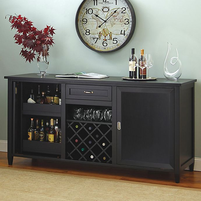 Alternate image 1 for Wine Enthusiast® Firenze Wine And Spirits Credenza in Black