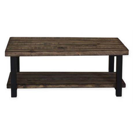 Solid Pine Coffee Table.Scott Living Solid Pine Coffee Sofa And End Table Collection In Brown Black
