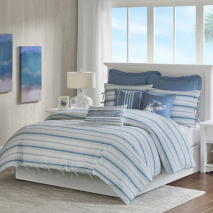 Alternate image 1 for Harbor House Ocean Stripe Duvet Cover