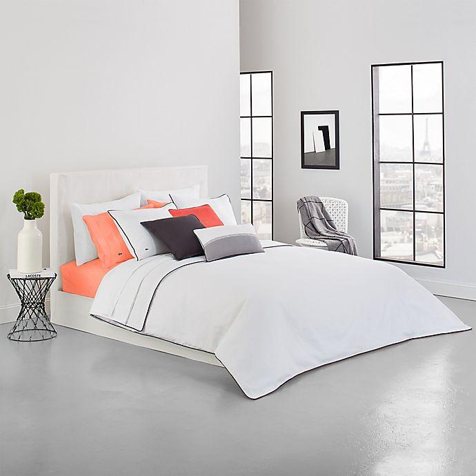 Alternate image 1 for Lacoste Gorbio Full/Queen Duvet Set in White