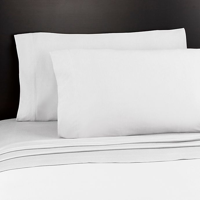 Alternate image 1 for Soft Tees Jersey Knit King Sheet Set in White