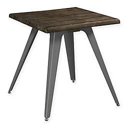 Scott Living Traditional End Table in Dark Rustic Brown