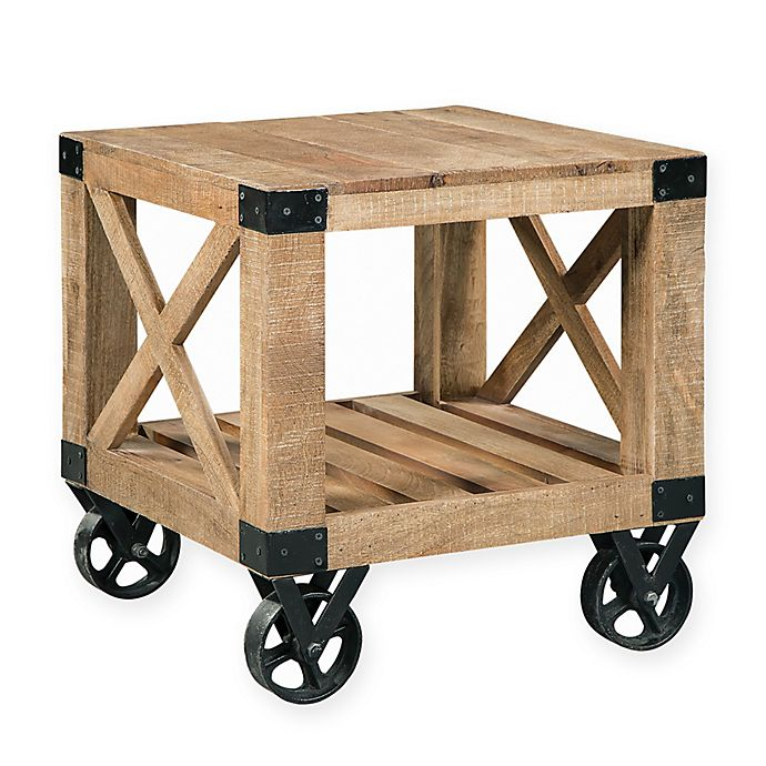 Alternate image 1 for Scott Living Industrial End Table with Wheels