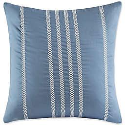 Harbor House Ocean Stripe Embroidered Stripe Square Throw Pillow