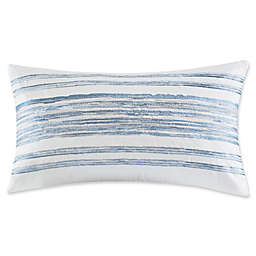 Harbor House Ocean Stripe Embroidered Striped Oblong Throw Pillow