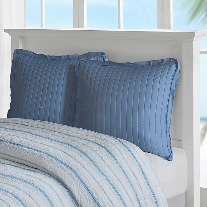 Alternate image 1 for Harbor House Ocean Stripe European Pillow Sham in Blue