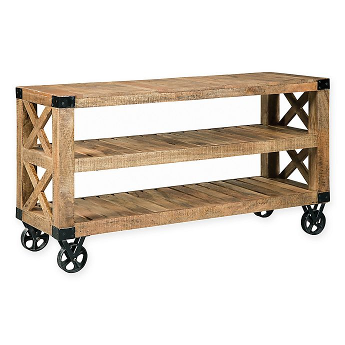Alternate image 1 for Scott Living Industrial Sofa Table with Wheels