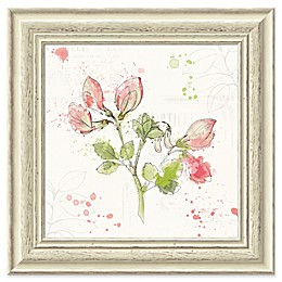 Amanti Art Floral Splash II 19-Inch Square Framed Wall Art