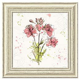 Amanti Art Floral Splash V 19-Inch Square Framed Wall Art
