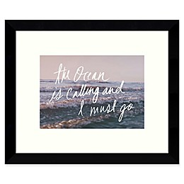 Amanti Art Ocean is Calling and I Must Go 11-Inch x 9-Inch Framed Wall Art