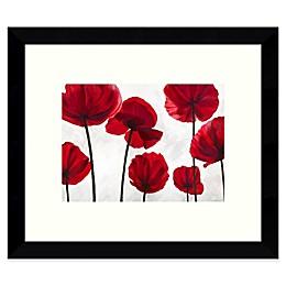 Amanti Art Red Friends (Poppies) 11-Inch x 9-Inch Framed Wall Art