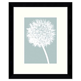 Amanti Art Dandelion Tilt 8.88-Inch  x 10.88-Inch Framed Wall Art in Blue