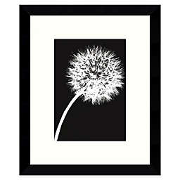 Amanti Art Dandelion Tilt 8.88-Inch  x 10.88-Inch Framed Wall Art in Black