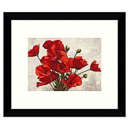Amanti Art Bouquet of Poppies Framed Wall Art