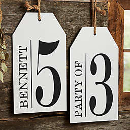Family Number Wall Tag