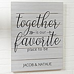Together Is 20-Inch x 16-Inch Wood Slat Sign