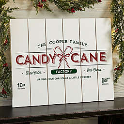 Vintage Holiday 16-Inch x 20-Inch Wooden Slat Sign