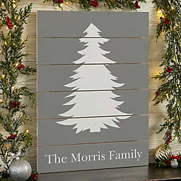Winter Silhouette 16-Inch x 20-Inch Wooden Slat Sign