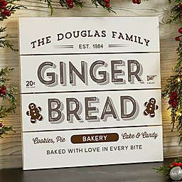 Vintage Holiday 12-Inch Square Wooden Slat Sign