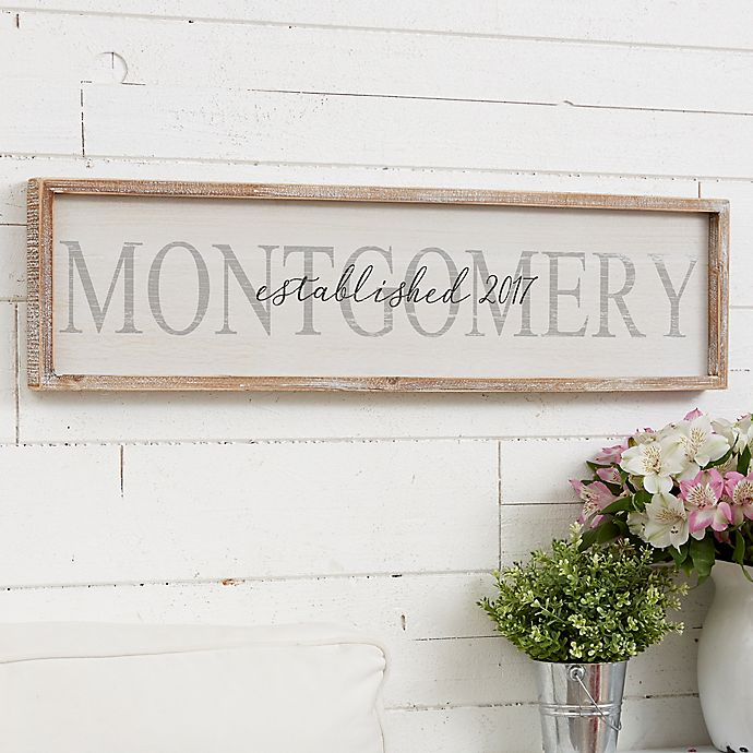Family Name Long Barnwood Framed Wall Art | Bed Bath & Beyond