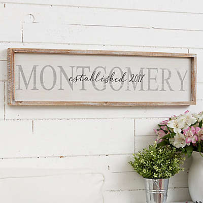 Family Name Long Barnwood Framed Wall Art