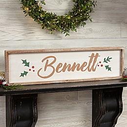 Cozy Christmas Long Barnwood Frame Wall Art