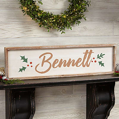 Cozy Christmas Long Barnwood Frame Wall Art