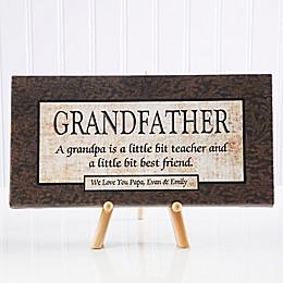 Grandfather 11-Inch x 5-Inch Canvas Wall Art