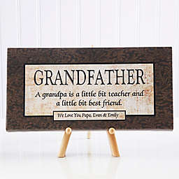 Grandfather 11-Inch x 5-Inch Canvas Wall Art