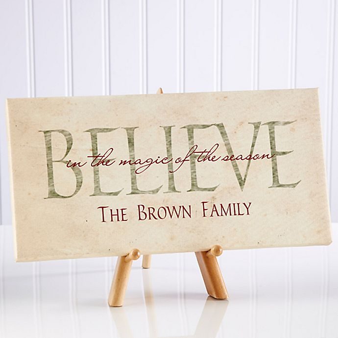 Alternate image 1 for Believe in Christmas 5.5-Inch x 11-Inch Canvas Wall Art