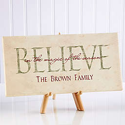 Believe in Christmas 5.5-Inch x 11-Inch Canvas Wall Art
