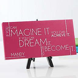 Inspiring Message 11-Inch x 5-Inch  Canvas Wall Art