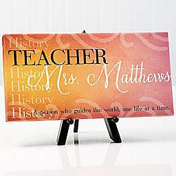 Inspiring Teacher 11-Inch x 5-Inch  Canvas Wall Art