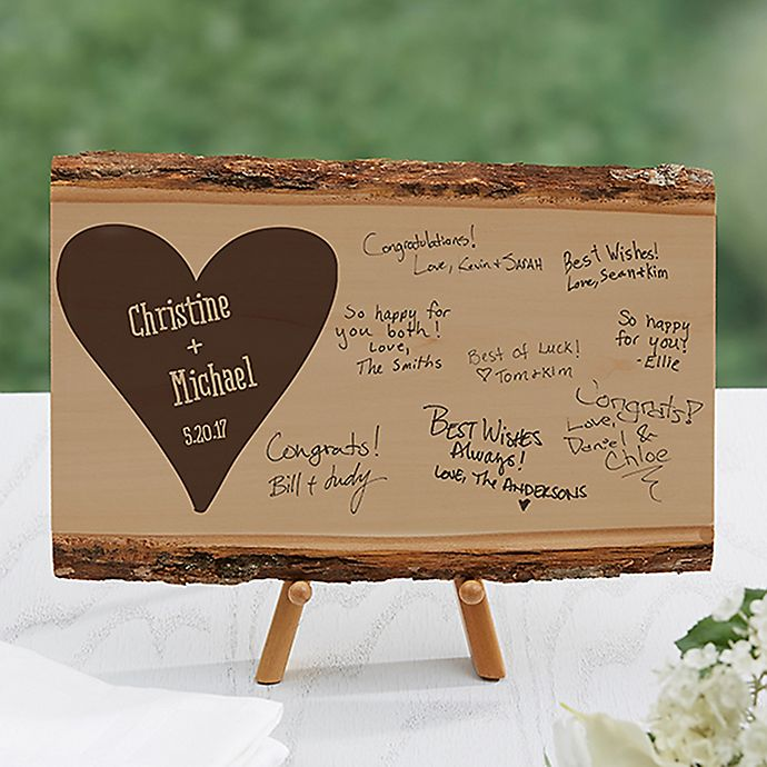 Wedding Guest Book Basswood Plank | Bed Bath & Beyond