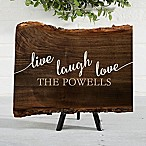 Live, Laugh, Love Basswood Plank