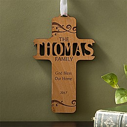 Bless Our Family Wood Cross