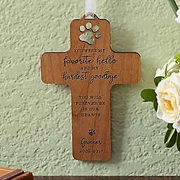 Pet Memorial Wood Cross