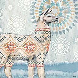 Portfolio Arts Group Global Llama I 12-Inch Square Canvas Wall Art